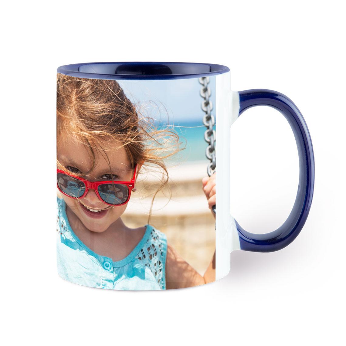 photo navy coffee mug