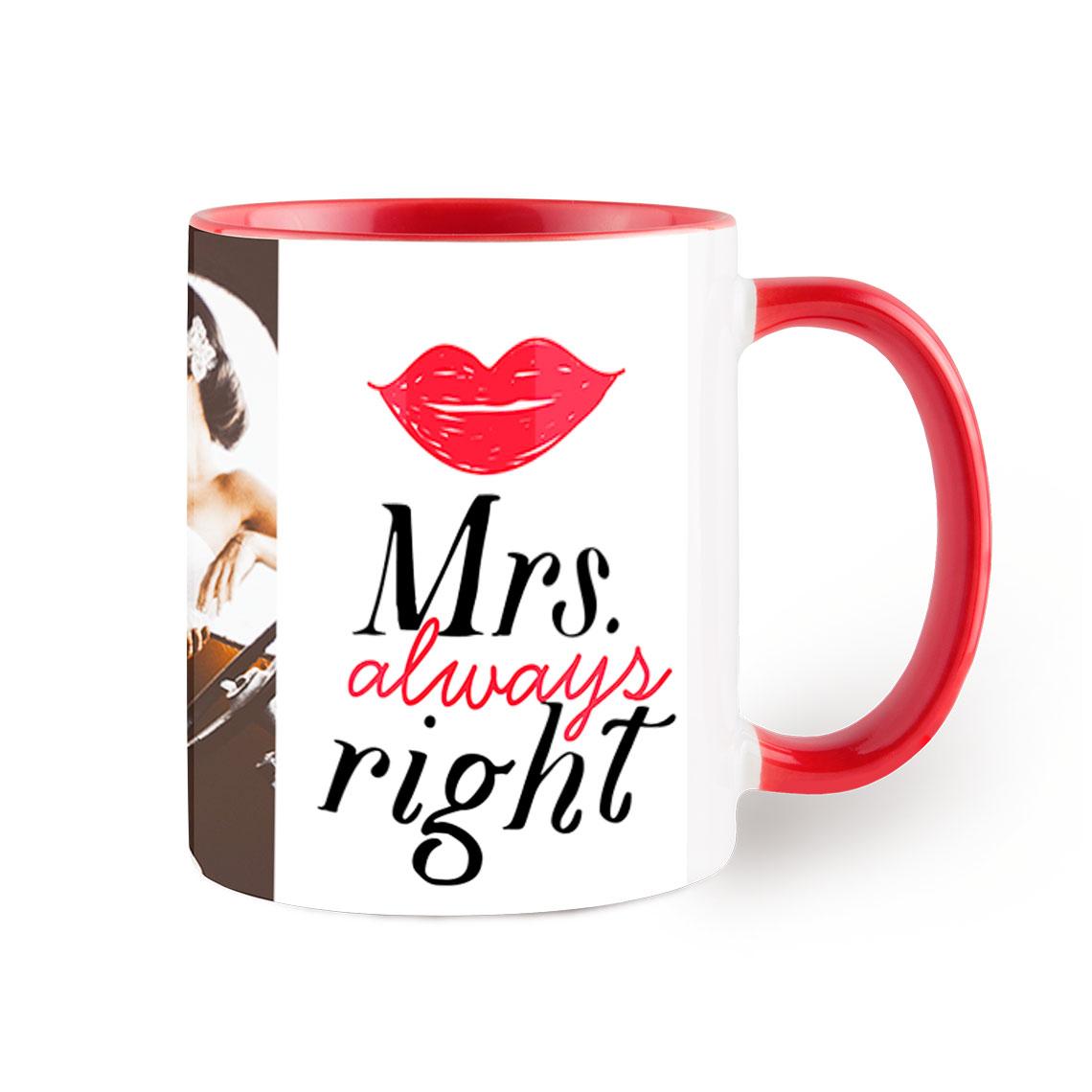 photo red coffee mug